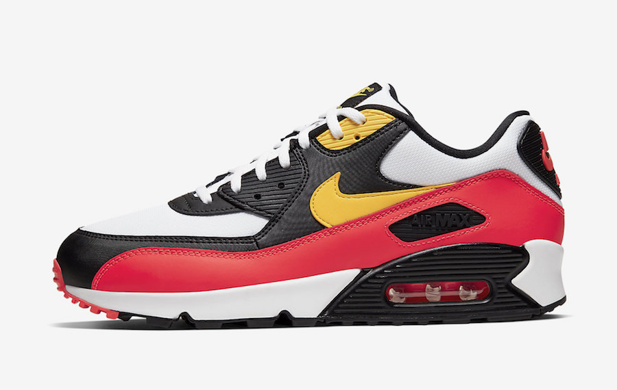 Nike Air Max 90 Black Yellow Crimson AJ1285-109 Release Date Info