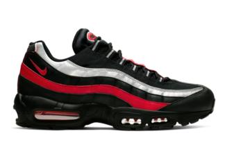 Nike Air Max 95 Black University Red Metallic Silver CQ9704-001 Release Date Info