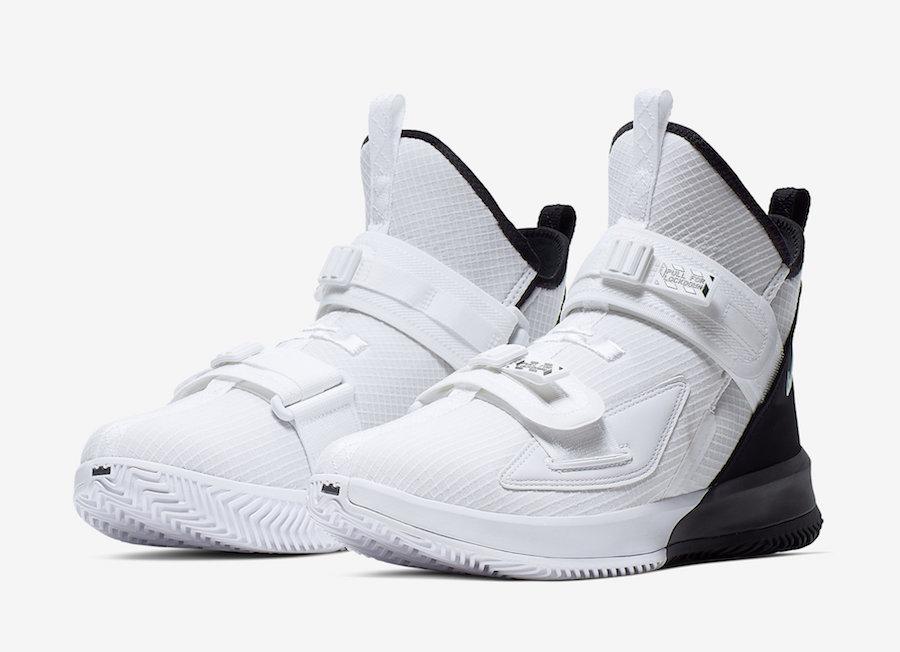 Nike LeBron Soldier 13 White Black AR4228-100 Release Date Info
