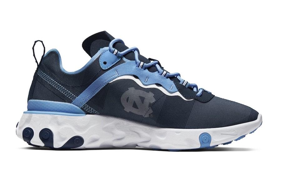 Nike React Element 55 UNC Tar Heels Release Date Info
