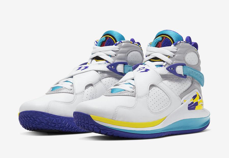 NikeCourt Zoom Zero Jordan 8 Aqua CQ4481-100 Release Date Info