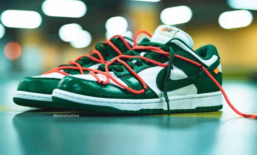 Off-White Nike Dunk Low Pine Green CT0856-100 Release Date
