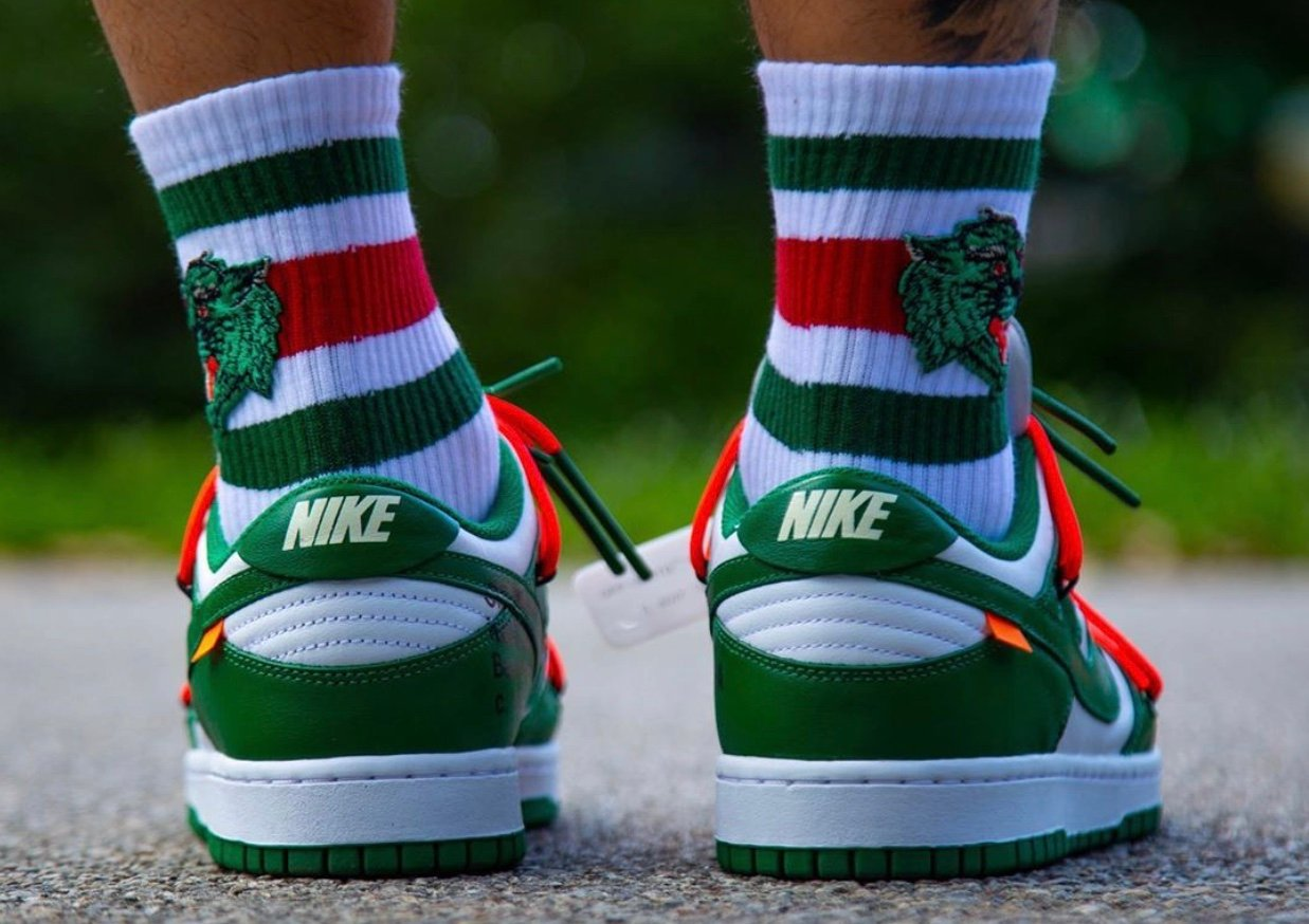 Off-White Nike Dunk Low Pine Green CT0856-100 Release Info Price