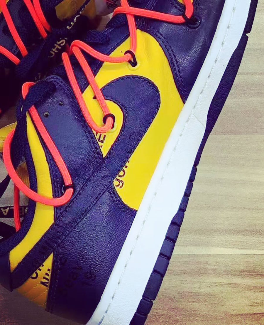 Off-White Nike Dunk Low University Gold Midnight Navy CT0856-700 Release Date Info