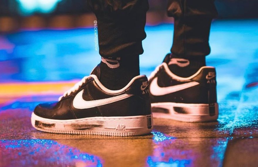 PEACEMINUSONE Nike Air Force 1 Low Black White On Feet Release Date