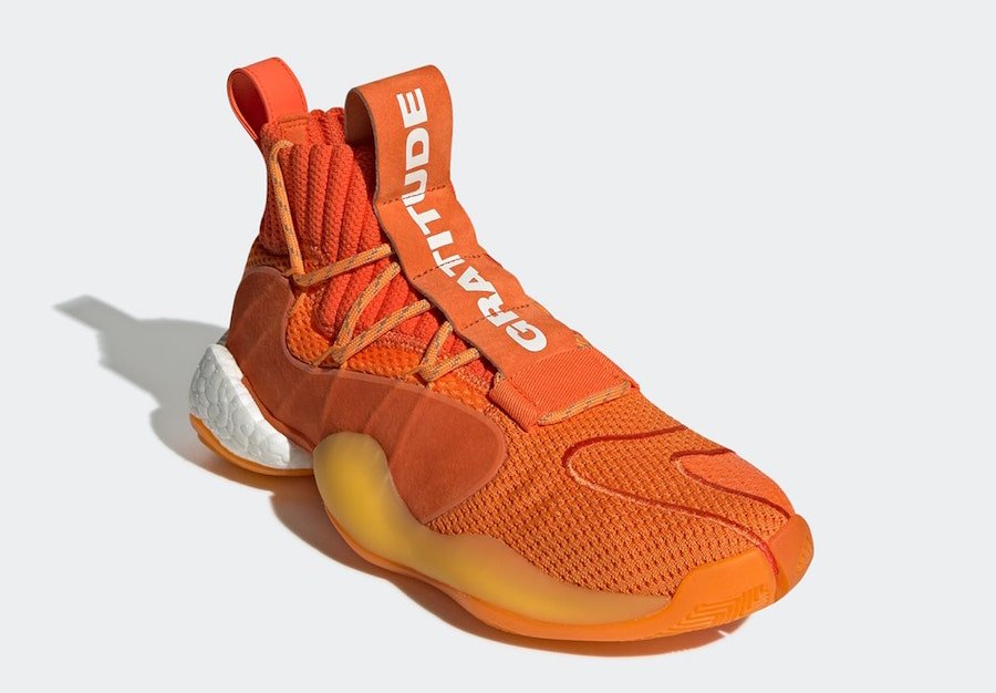 Pharrell adidas Crazy BYW X Orange EG7728 Release Date Info