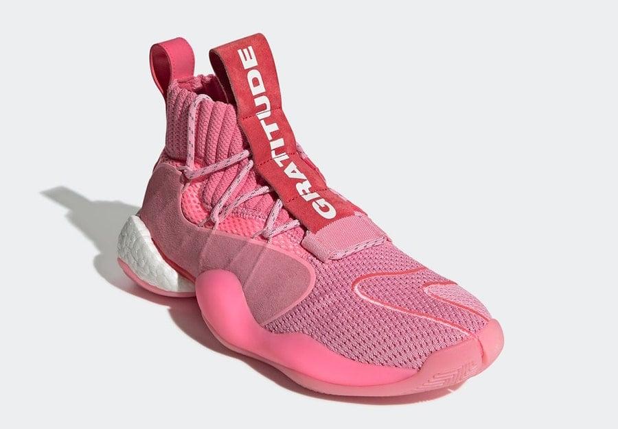 Pharrell adidas Crazy BYW X Pink EG7723 Release Date Info