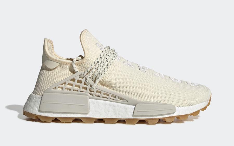 Pharrell adidas NMD Hu Cream White Gum EG7737 Release Date