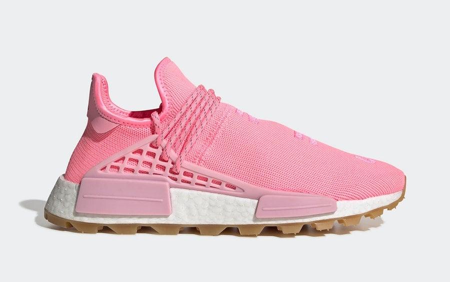 Pharrell adidas NMD Hu Pink Gum EG7740 Release Date