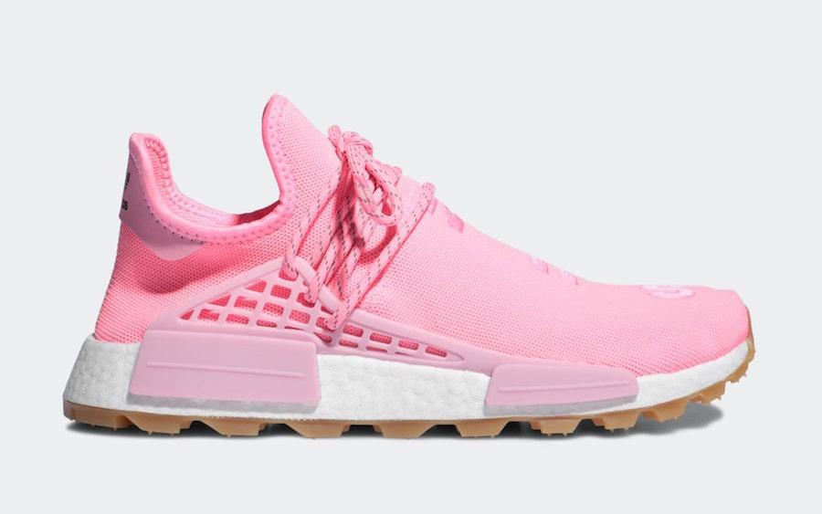 Pharrell adidas NMD Hu Trail Sun Calm Pink Gum EG7740 Release Date Info