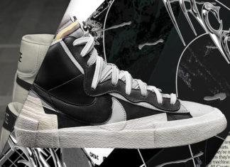 Sacai Nike Blazer Mid Black White Release Date