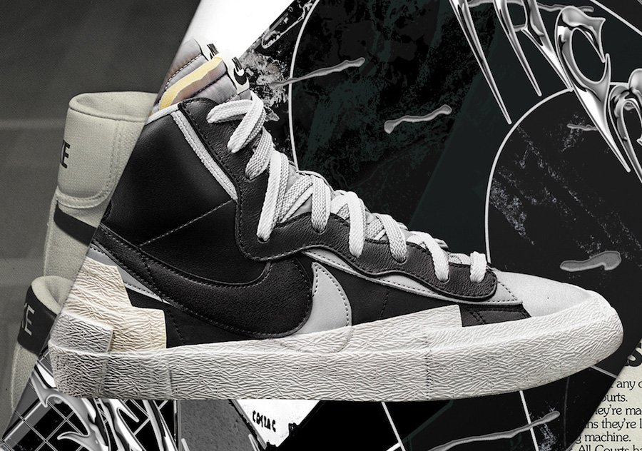 Sacai Nike Blazer Mid Black White Release Date Info | SneakerFiles