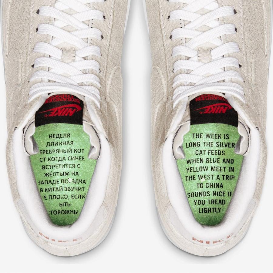 Stranger Things Nike Blazer Mid Upside Down CJ6102-100 ...