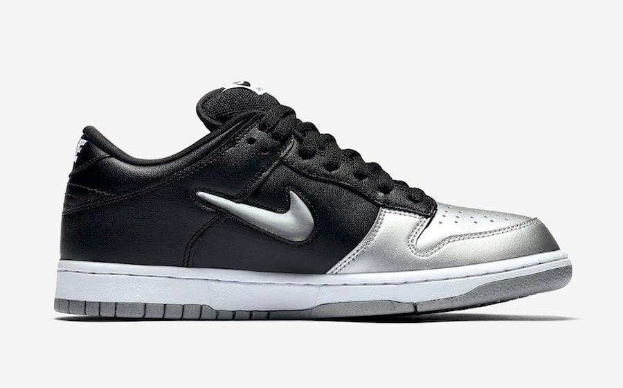 Supreme Nike SB Dunk Low Metallic Silver CK3480-001 2019 Release Info