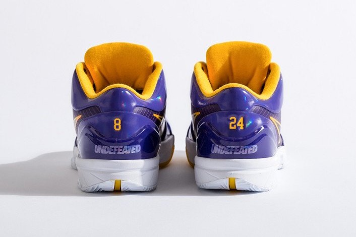 Undefeated Kobe 4 Protro Lakers Release Date Info