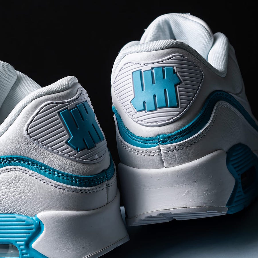 Undefeated Nike Air Max 90 White Blue Fury CJ7197-102 Release Date Info