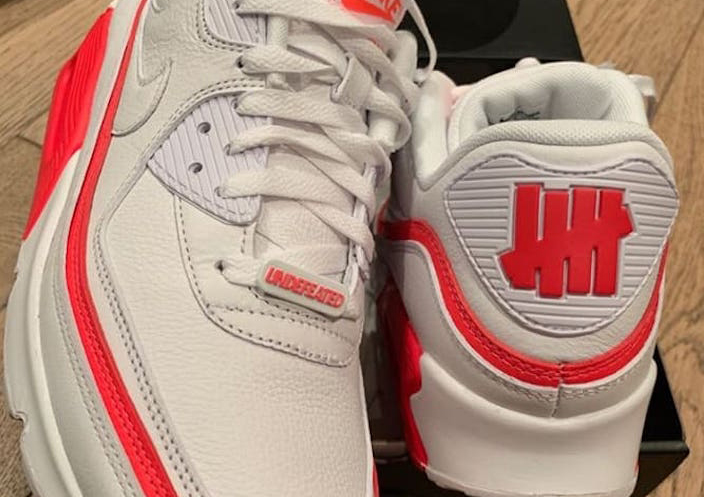 Undefeated Nike Air Max 90 White Solar Red Release Date Info