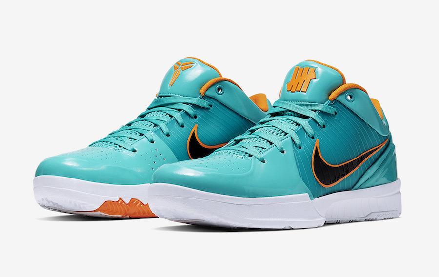 Undefeated Nike Kobe 4 Protro Spurs DeMar DeRozan CQ3869-300 Release Date Info