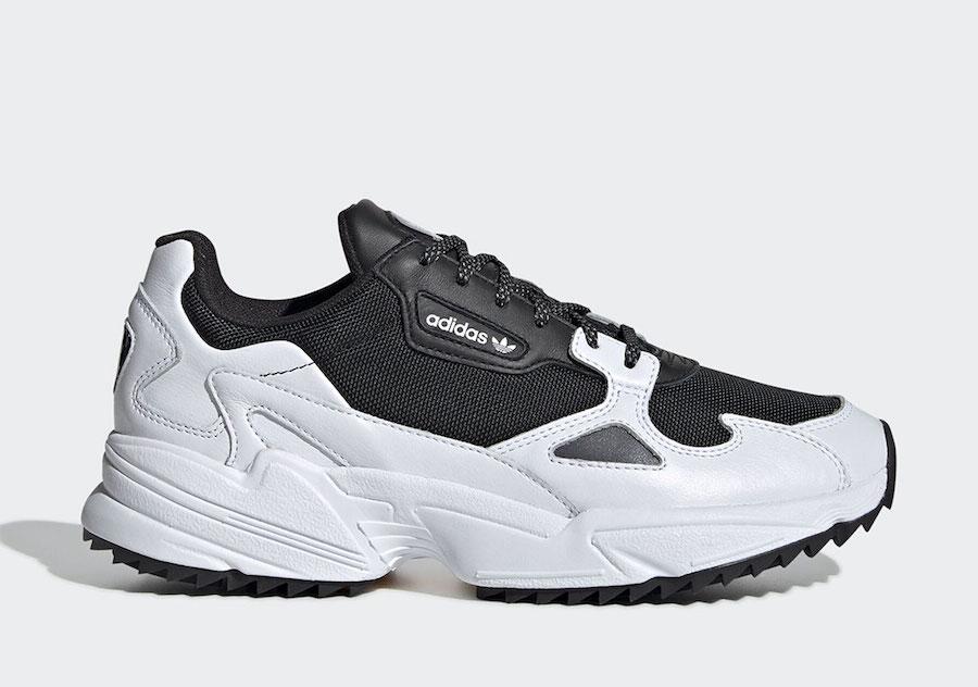adidas Falcon Trail Black White EF9024 Release Date Info