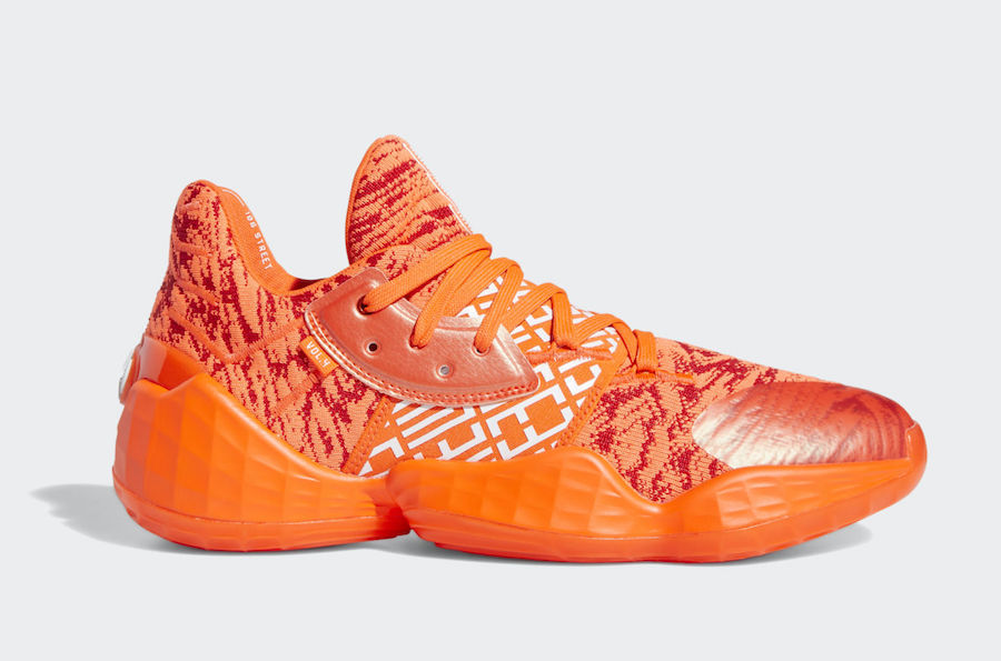 adidas Harden Vol 4 Orange Solar Red EH2409 Release Date Info