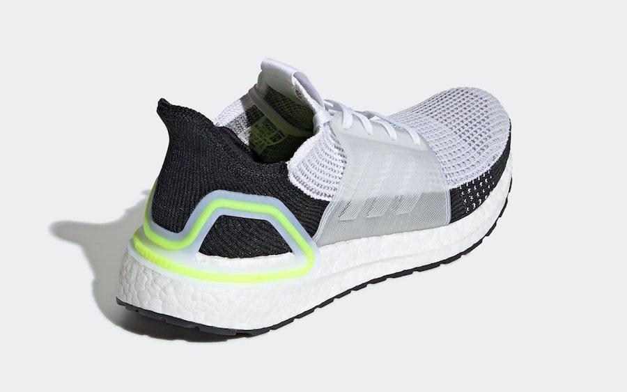 adidas Ultra Boost 2019 White Black Volt EF1344 Release Date Info