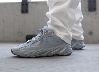 adidas Yeezy Boost 700 V2 FV8424 Hospital Blue On Feet