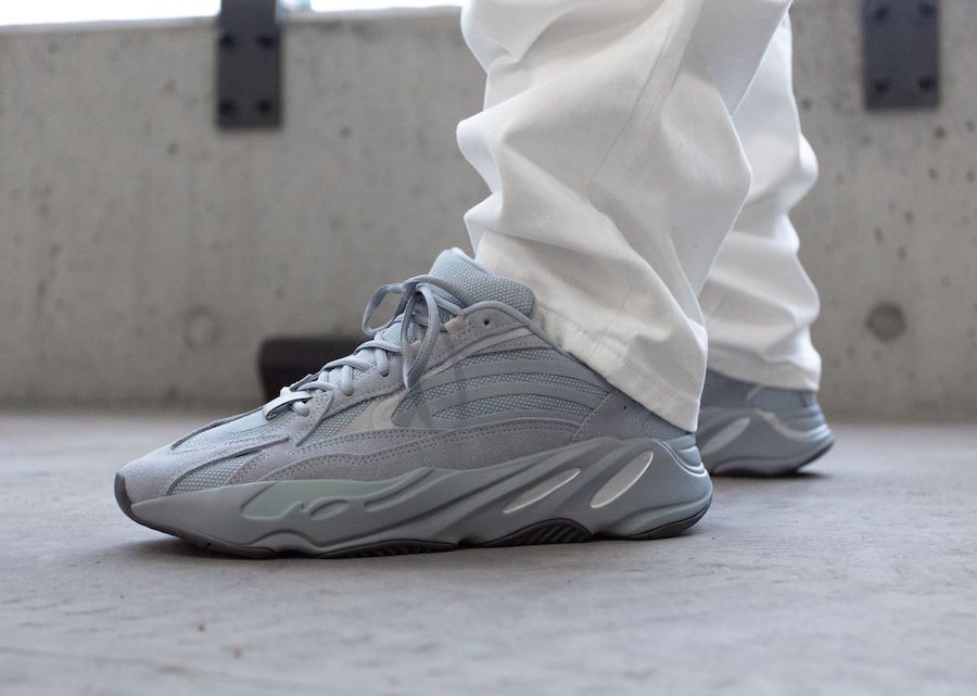 adidas Yeezy Boost 700 V2 FV8424 Hospital Blue On Feet