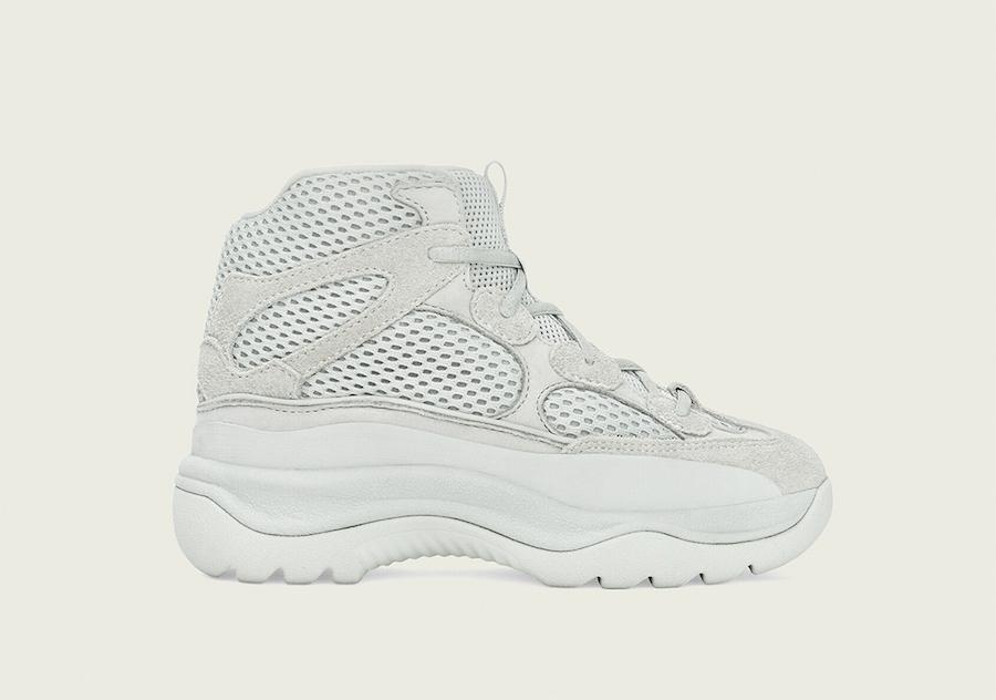 adidas Yeezy Desert Boot Salt Kids FV5682 Release Date Info