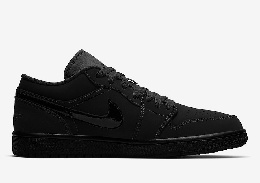 Air Jordan 1 Low Triple Black 553558-056 Release Date Info