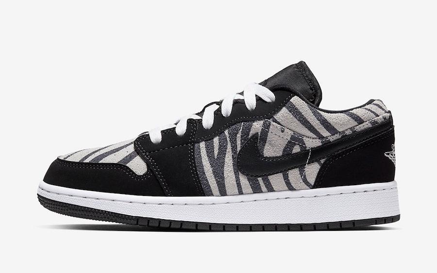 Air Jordan 1 Low Zebra 553560-057 Release Date Info