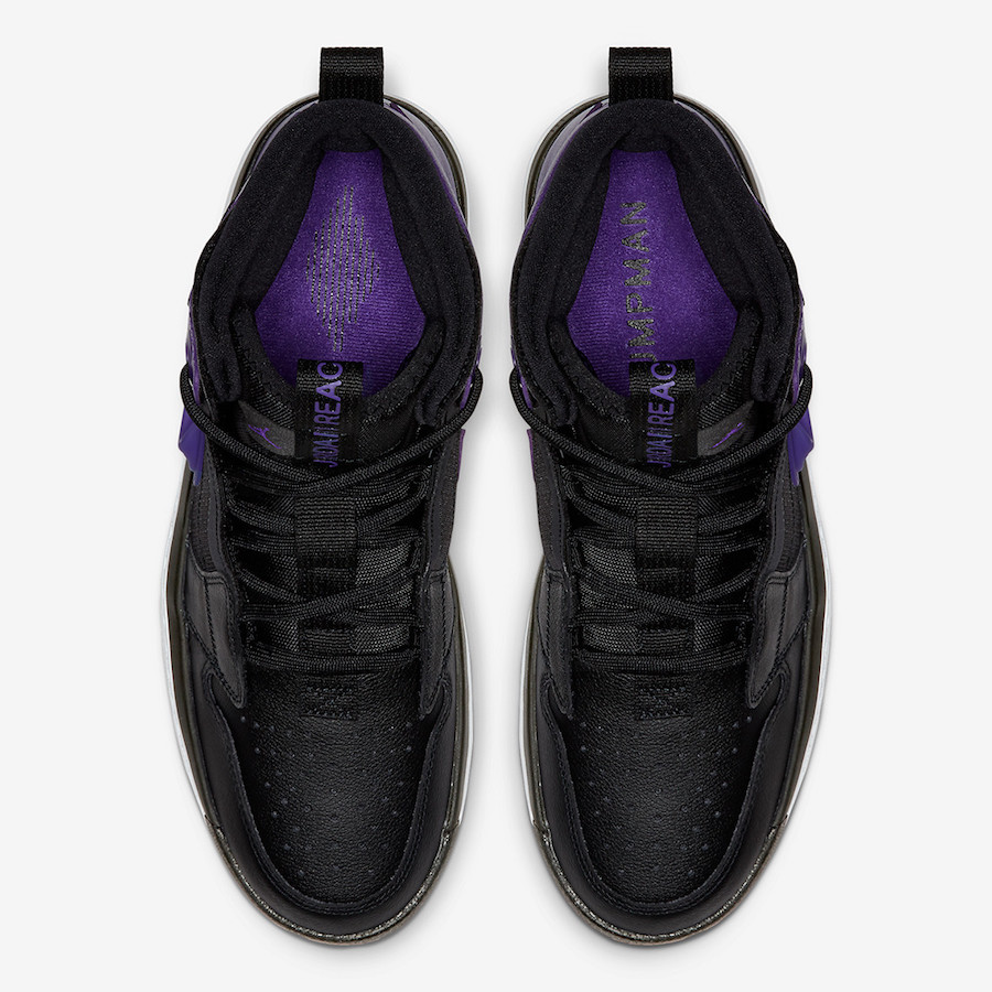 Air Jordan 1 React Black Purple AR5321-005 Release Date Info