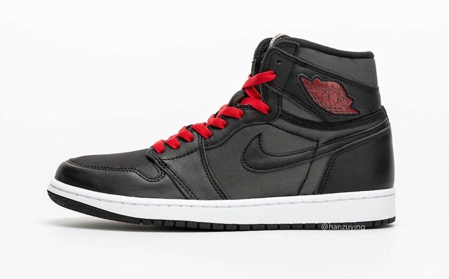 Air Jordan 1 Satin Black Gym Red 555088-060 Release Date