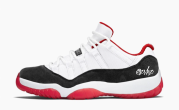 Air Jordan 11 Low Suede White University Red Black True Red AV2187-160 Release Date Info