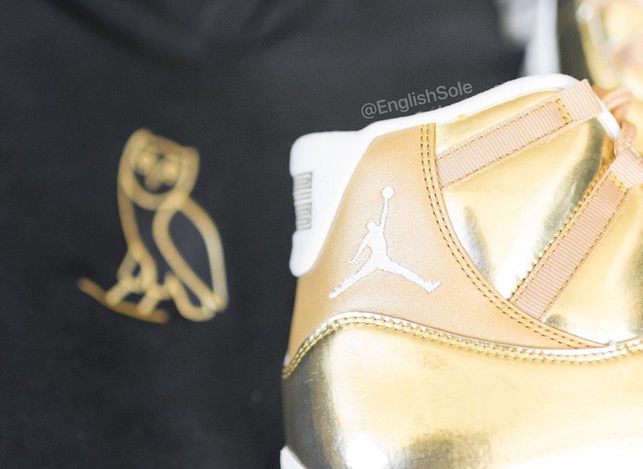 Air Jordan 11 OVO Metallic Gold Sample