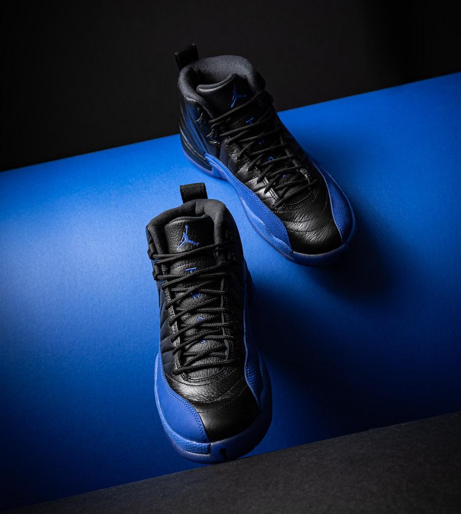 Air Jordan 12 Black Game Royal 130690-014 2019 Release