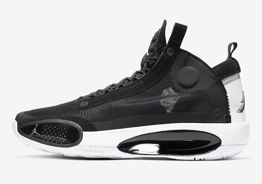 Air Jordan 34 XXXIV Black White Eclipse AR3240-001 Release Date