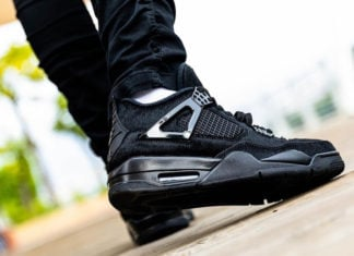 Air Jordan 4 Black Pony Hair CK2925-001 On Feet
