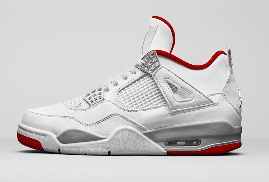 Air Jordan 4 White University Red Metallic Silver CT8527-112 Release Date Info