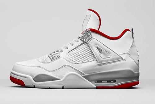 Air Jordan 4 White University Red Metallic Silver Release Date
