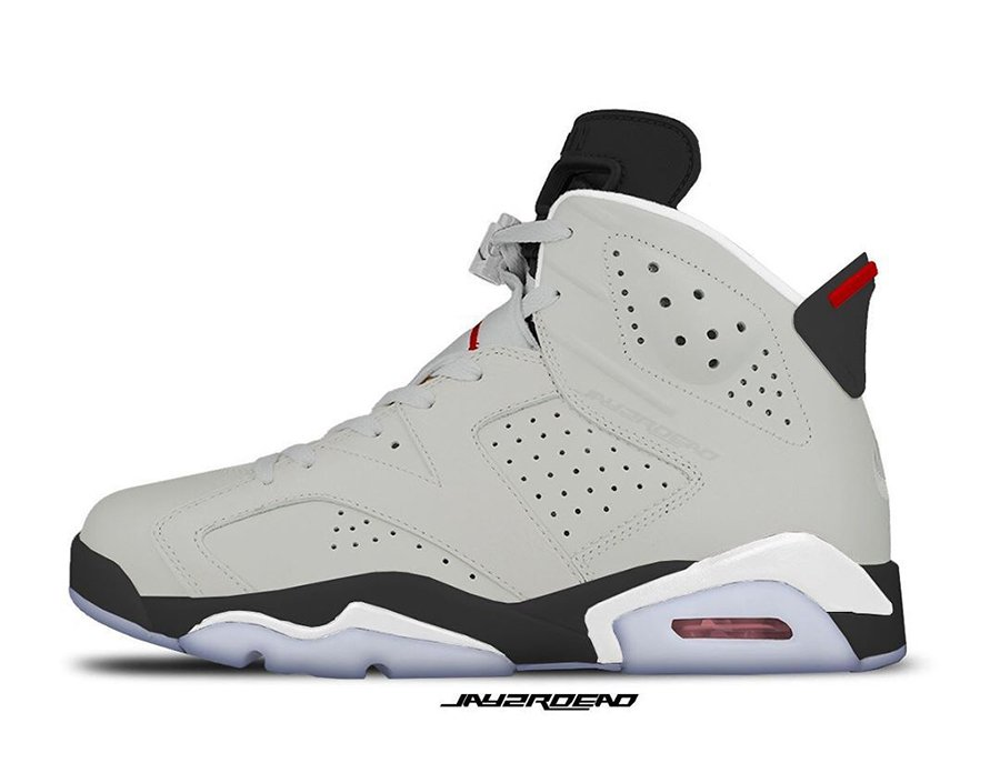 Air Jordan 6 Neutral Grey White True Red Black CT8529-062 Release Date Info