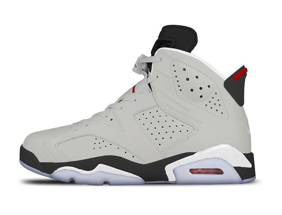 wholesale dealer 4a478 7befb Air Jordan 6 Neutral Grey White True Red Black CT8529-06 ...