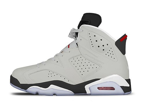 Air Jordan 6 Neutral Grey White True Red Black Release Date