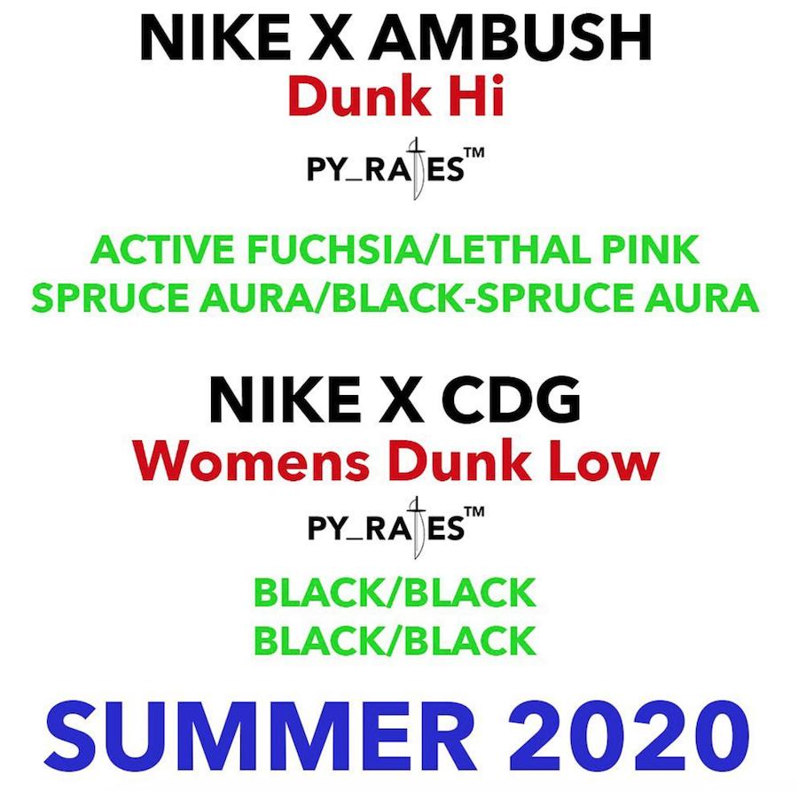 Ambush Comme des Garcons Nike Dunk Release Date Info