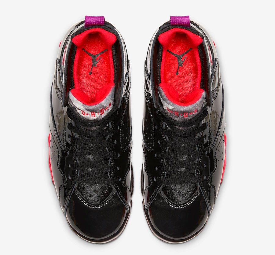 Black Patent Leather Air Jordan 7 313358-006 Release