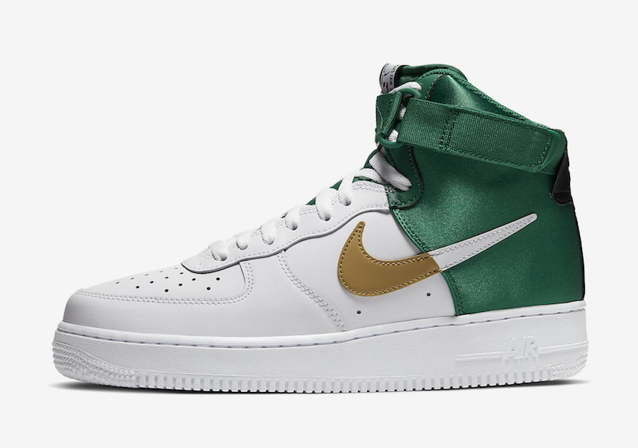 NBA Nike Air Force 1 High Celtics BQ4591-100 Release Date Info