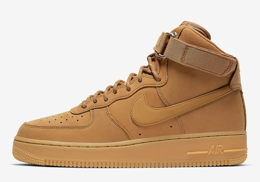 Nike Air Force 1 High Wheat Flax CJ9178-200 Release Date Info