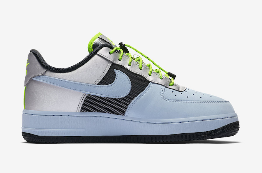 Nike Air Force 1 Low Baby Blue Volt Black Silver CN0176-400 Release Date Info
