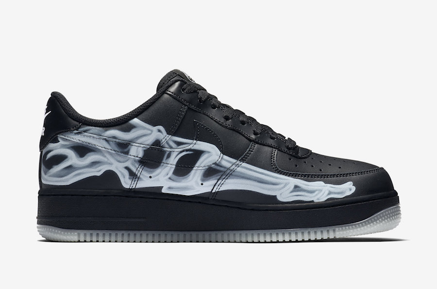 Nike Air Force 1 Low Black Skeleton BQ7541-001 Release