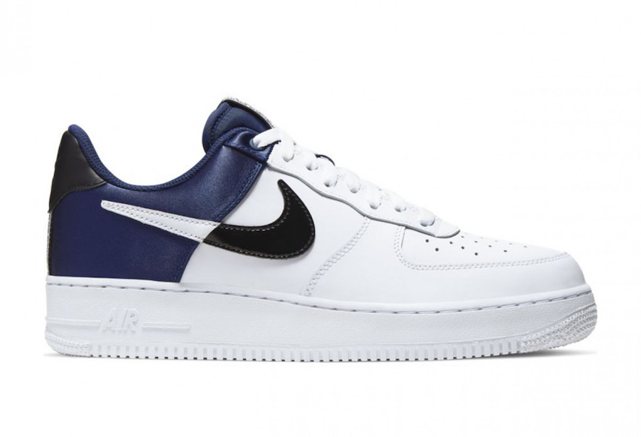 Nike Air Force 1 NBA Midnight Navy Satin BQ4420-400 Release Date Info