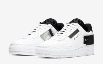 Nike Air Force 1 Type White Black Volt AT7859-101 Release Date Info